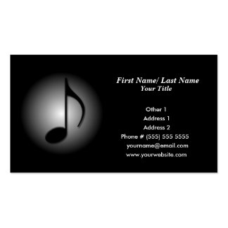 Tarjeta de la industria musical plantilla de tarjeta de visita
