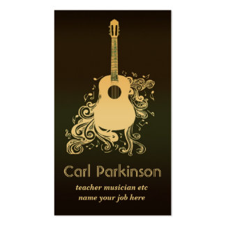 tarjeta de la industria musical tarjeta de negocio