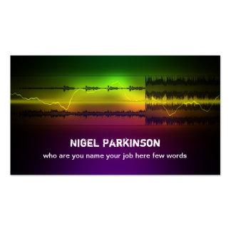 tarjeta de la industria musical tarjeta personal