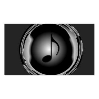 Tarjeta de la industria musical plantilla de tarjeta personal