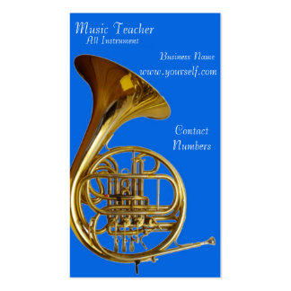 Tarjeta de la industria musical tarjetas de visita