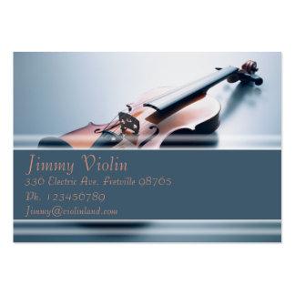 Tarjeta de la industria musical - violín tarjetas de visita grandes