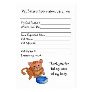 Tarjeta de la información del canguro del mascota tarjetas de visita grandes