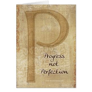Tarjeta de la inspiración de la perfección del