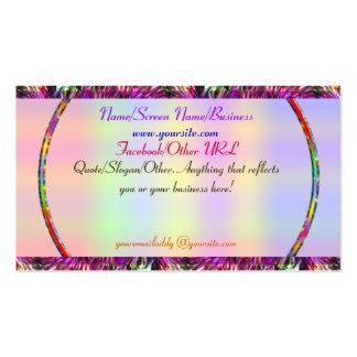 Tarjeta de la introducción del arco iris de tarjetas de visita