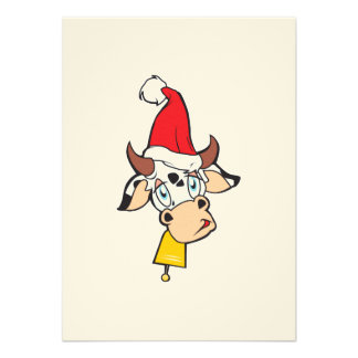 Tarjeta de la invitación de Bell del gorra de