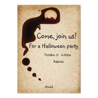 Tarjeta de la invitación de Halloween