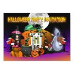 Tarjeta de la invitación de Halloween - dibujo