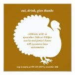 Tarjeta de la invitación de la acción de gracias