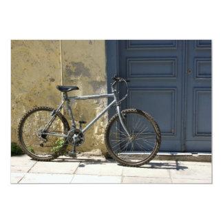 Tarjeta de la invitación de la bicicleta