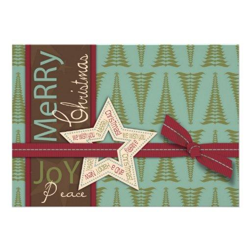 Tarjeta de la invitación de la estrella del navida