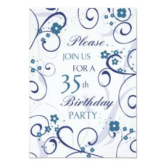 Tarjeta de la invitación de la fiesta de invitación 12,7 x 17,8 cm