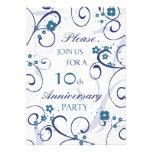 Tarjeta de la invitación de la fiesta de aniversar