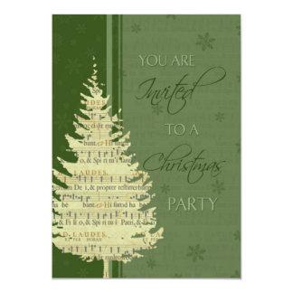 Tarjeta de la invitación de la fiesta de Navidad