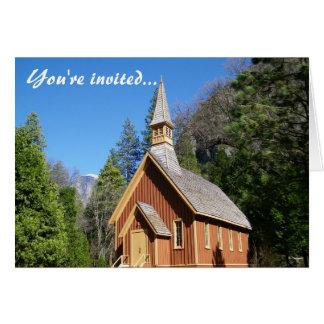 Tarjeta de la invitación de la iglesia