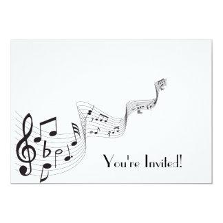 Tarjeta de la invitación de la nota musical