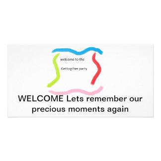 Tarjeta de la invitación de la reunión tarjeta personal