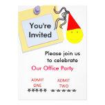 Tarjeta de la invitación de las fiestas en la ofic