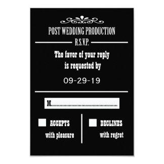 Tarjeta de la invitación de RSVP de la recepción