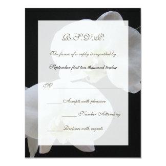 Tarjeta de la invitación de RSVP del boda --