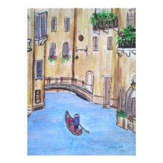Tarjeta de la invitación de Venise