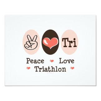 Tarjeta de la invitación del amor de la paz tri