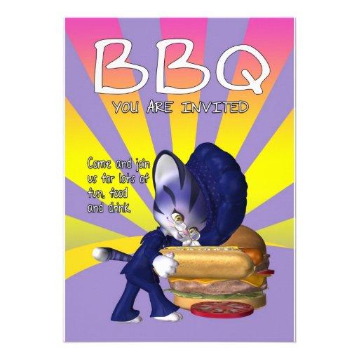 Tarjeta de la invitación del Bbq - el Bbq invita