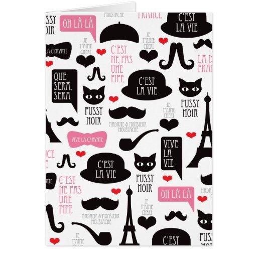Tarjeta de la invitación del bigote de París