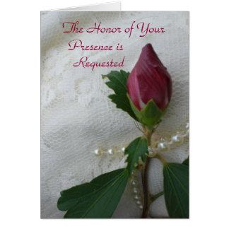 Tarjeta de la invitación del boda