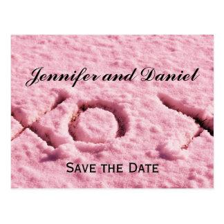 Tarjeta de la invitación del boda de diciembre tarjeta postal