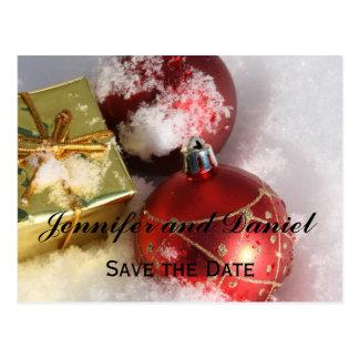 Tarjeta de la invitación del boda de diciembre postal