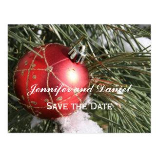Tarjeta de la invitación del boda de diciembre tarjetas postales