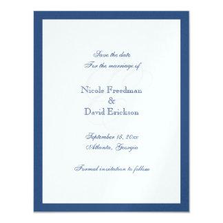Tarjeta de la invitación del boda del monograma de