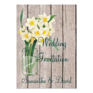 Tarjeta de la invitación del boda del narciso del