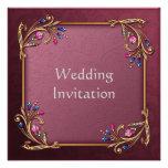 Tarjeta de la invitación del boda del vintage