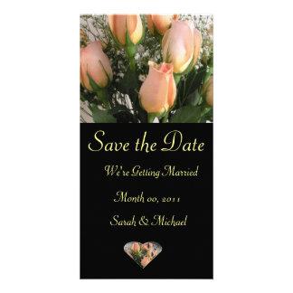 Tarjeta de la invitación del boda tarjetas con fotos personalizadas