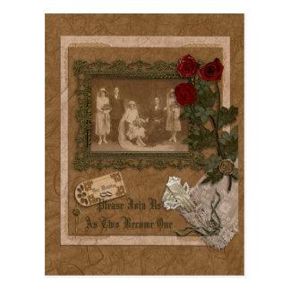 Tarjeta de la invitación del boda postal