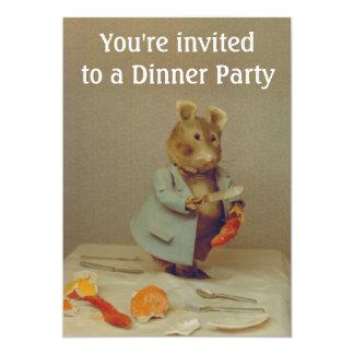 Tarjeta de la invitación del cocinero del ratón