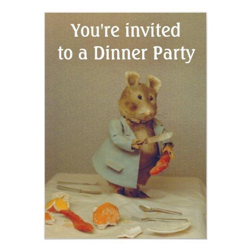 Tarjeta de la invitación del cocinero del ratón invitación 12,7 x 17,8 cm