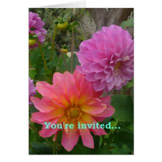 Tarjeta de la invitación del crisantemo
