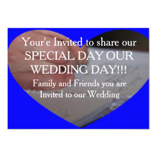 Tarjeta de la invitación del día de boda