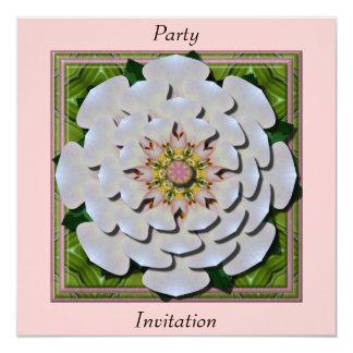 Tarjeta de la invitación del efecto de Roseflower