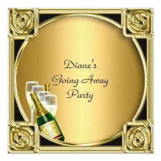 Tarjeta de la invitación del fiesta de despedida