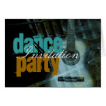 Tarjeta de la invitación del fiesta de la música d
