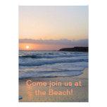 tarjeta de la invitación del fiesta de la playa
