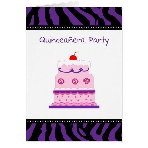 Tarjeta de la invitación del fiesta de Quinceanera