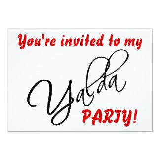 Tarjeta de la invitación del fiesta de Yalda