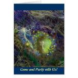 Tarjeta de la invitación del fiesta del Fairyland