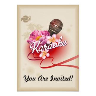 Tarjeta de la invitación del fiesta del Karaoke Invitación 12,7 X 17,8 Cm