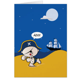 Tarjeta de la invitación del fiesta del pirata